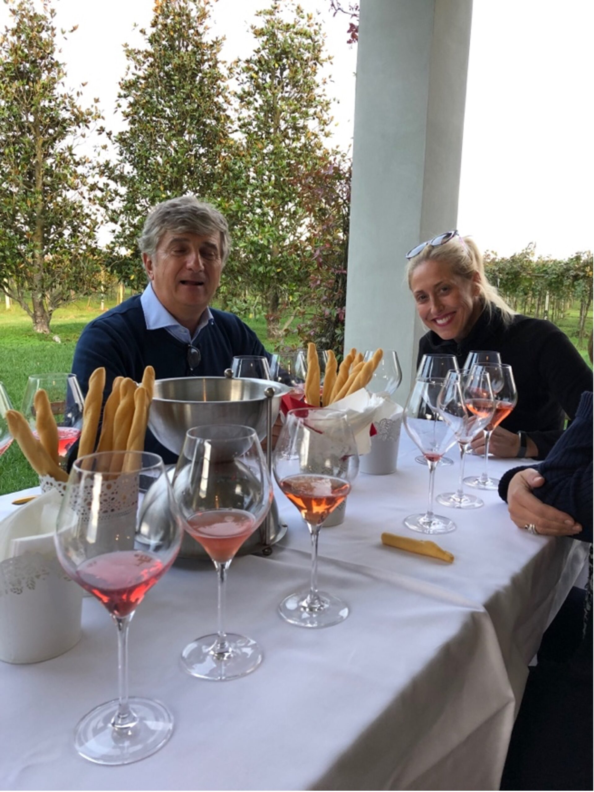 Lambrusco di Sorbara at Cavicchioli Vineyards with the winemaker. Photo by Vinotalia