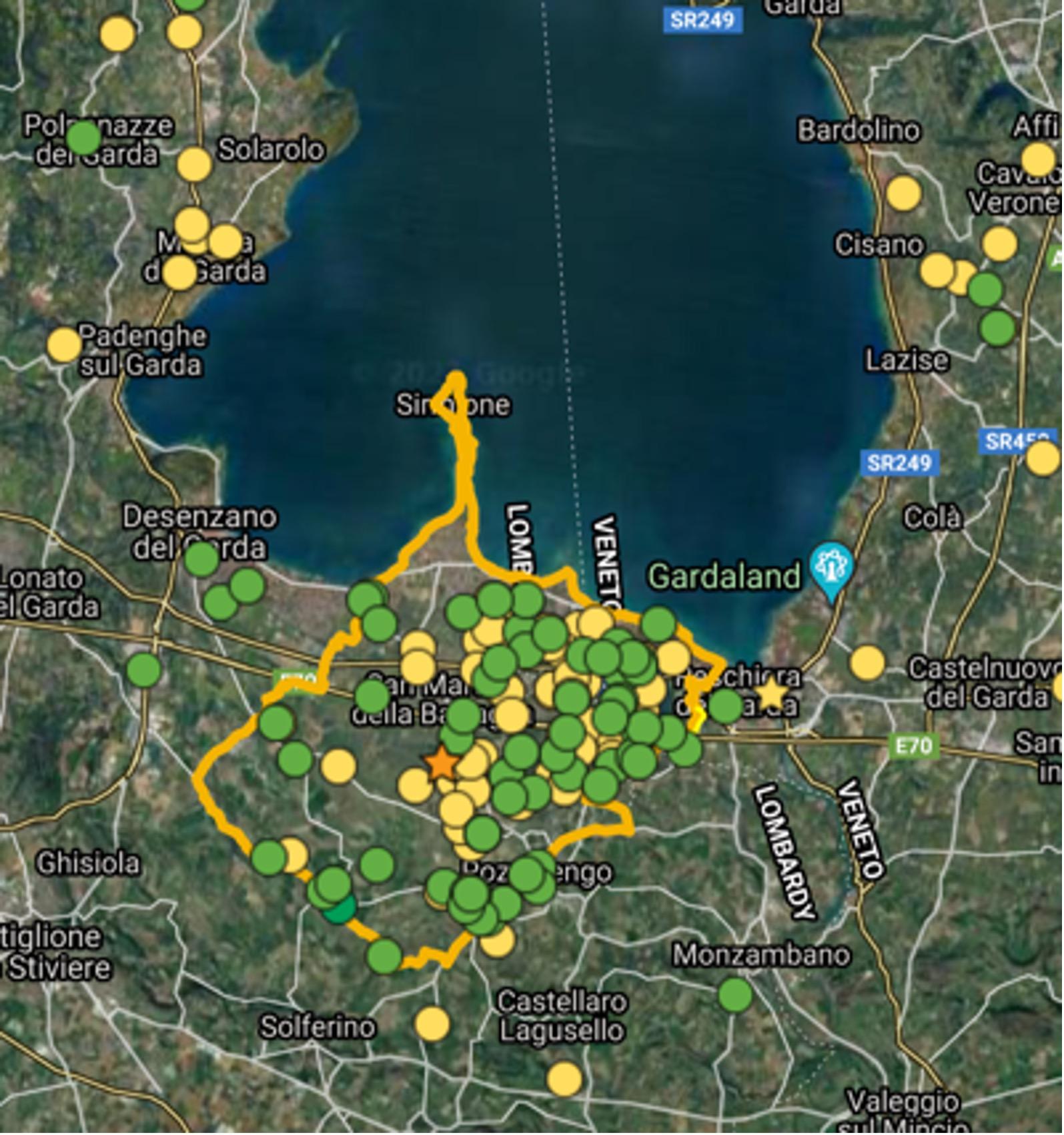 Map of Lugana by Consorzio di Lugana