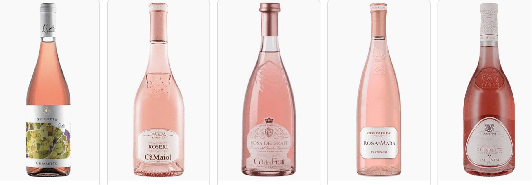 Valtenesi bottles of rosato. Photos courtesy of producers